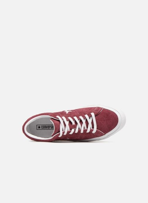 Baskets Converse One Star Ox M Bordeaux vue gauche