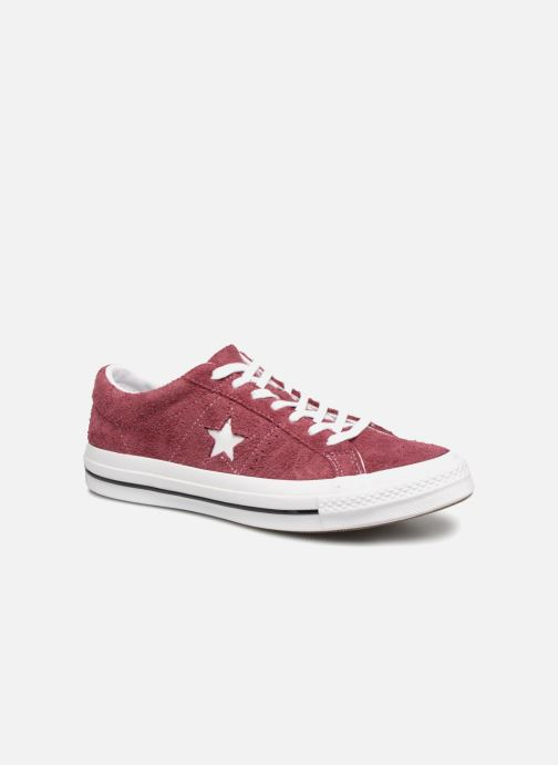 Baskets Converse One Star Ox M Bordeaux vue détail/paire