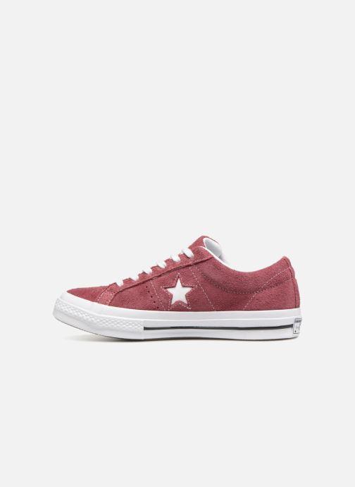 Sneaker Converse One Star Ox W weinrot ansicht von vorne