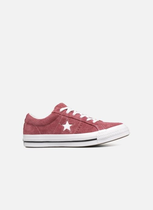 Trainers Converse One Star Ox W Burgundy back view