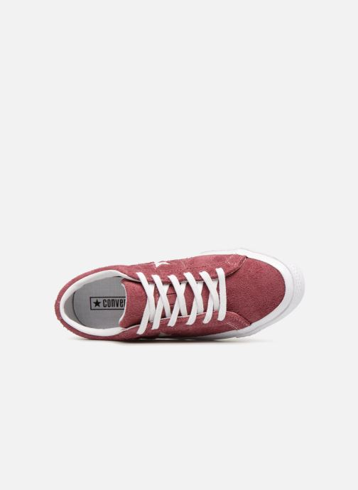 Trainers Converse One Star Ox W Burgundy view from the left