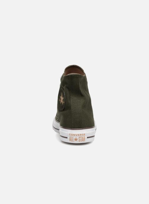 Trainers Converse Chuck Taylor Hi M Green view from the right