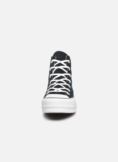 Sneaker Converse Chuck Taylor Lift Hi schwarz schuhe getragen