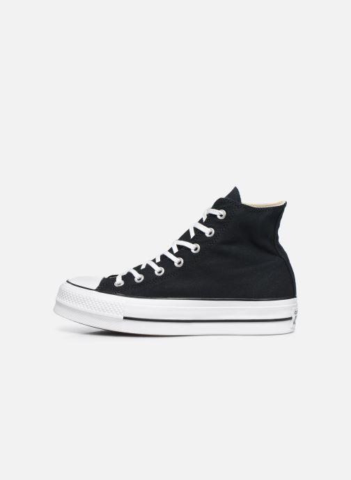 Sneaker Converse Chuck Taylor Lift Hi schwarz ansicht von vorne