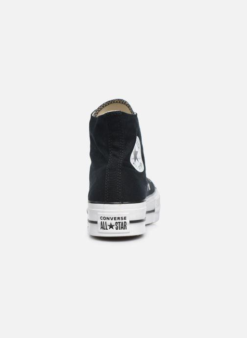 Sneaker Converse Chuck Taylor Lift Hi schwarz ansicht von rechts