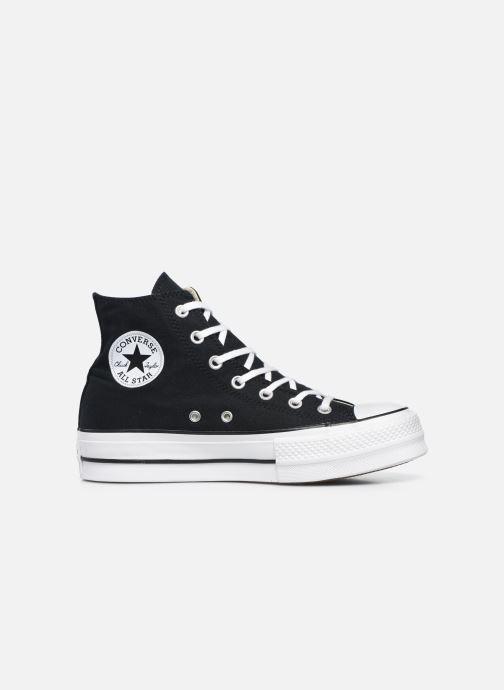 Sneakers Converse Chuck Taylor Lift Hi Zwart achterkant