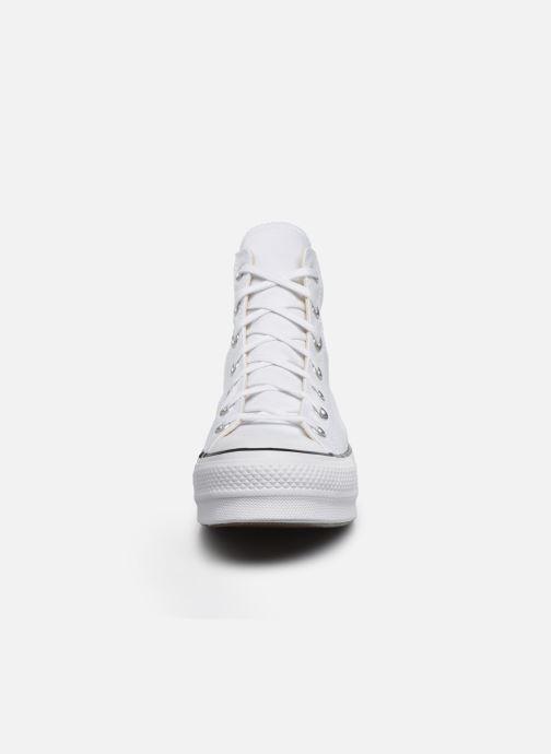 Baskets Converse Chuck Taylor Lift Hi Blanc vue portées chaussures