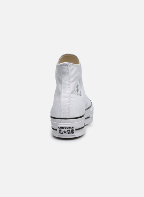 Sneakers Converse Chuck Taylor Lift Hi Wit rechts