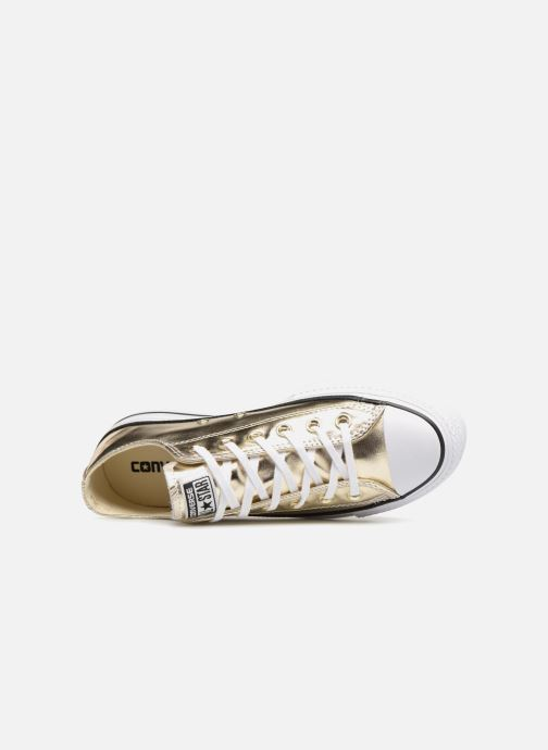 Baskets Converse Chuck Taylor Lift Ox Or et bronze vue gauche