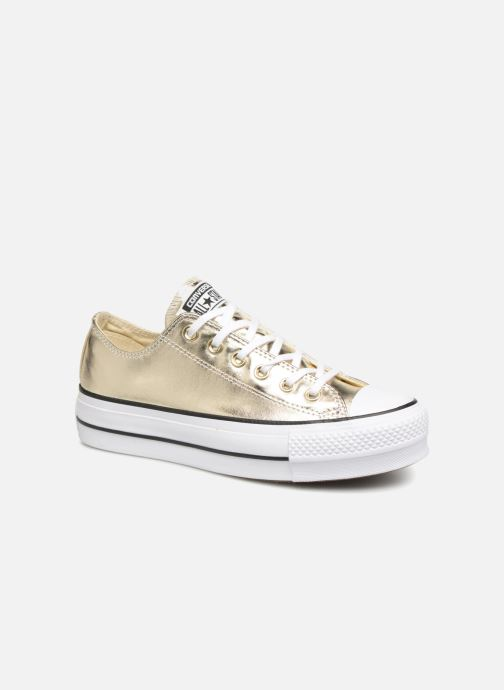 Baskets Converse Chuck Taylor Lift Ox Or et bronze vue détail/paire