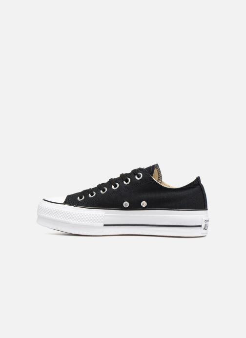 Sneaker Converse Chuck Taylor Lift Ox schwarz ansicht von vorne