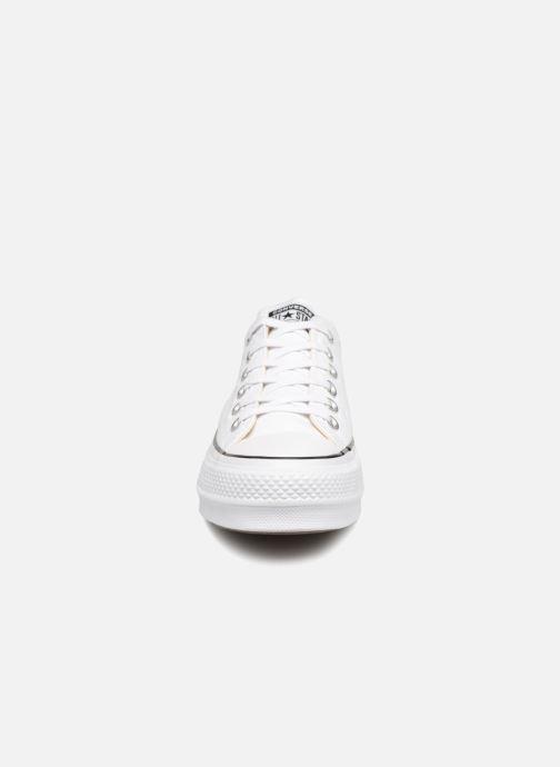 Sneaker Converse Chuck Taylor Lift Ox weiß schuhe getragen