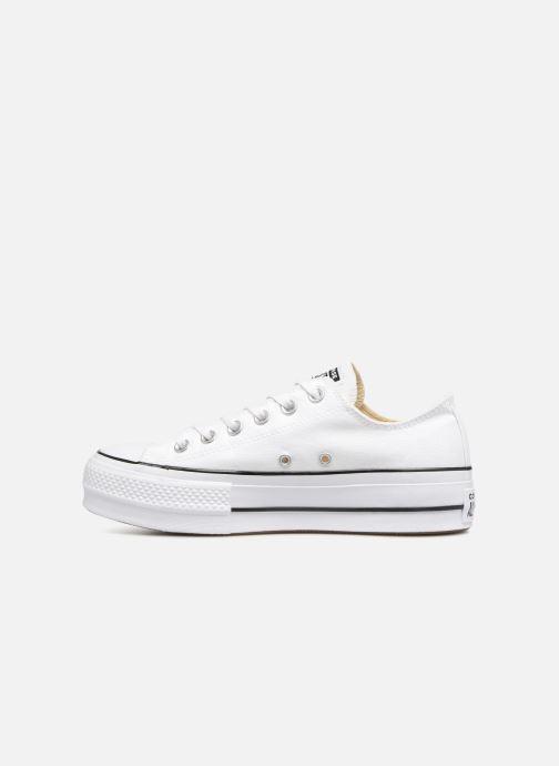 Sneaker Converse Chuck Taylor Lift Ox weiß ansicht von vorne