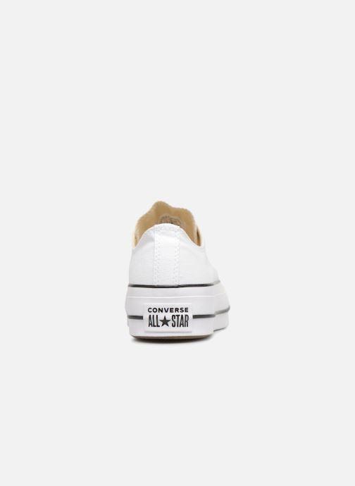 Sneaker Converse Chuck Taylor Lift Ox weiß ansicht von rechts