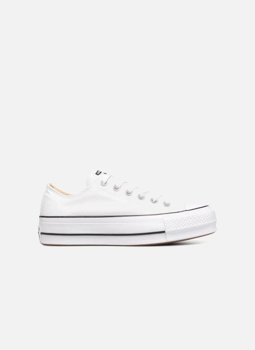 Sneaker Converse Chuck Taylor Lift Ox weiß ansicht von hinten