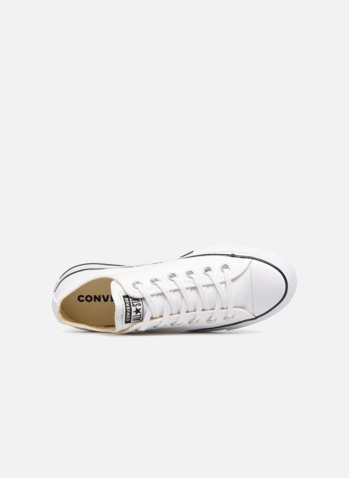 Sneaker Converse Chuck Taylor Lift Ox weiß ansicht von links