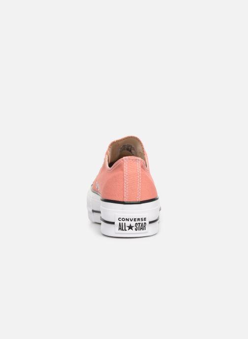 Sneakers Converse Chuck Taylor Lift Ox Rosa immagine destra