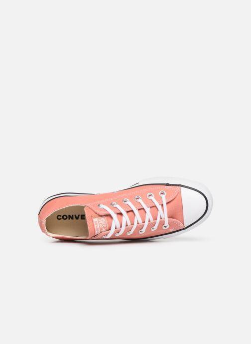 Sneakers Converse Chuck Taylor Lift Ox Rosa immagine sinistra