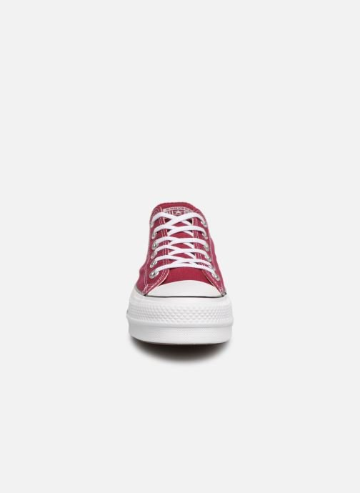 Trainers Converse Chuck Taylor Lift Ox Burgundy model view