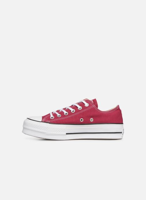 Trainers Converse Chuck Taylor Lift Ox Burgundy front view