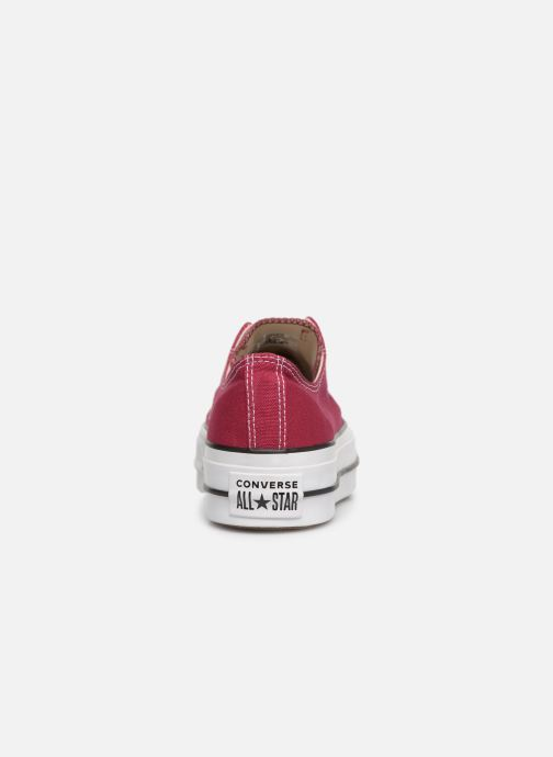 Trainers Converse Chuck Taylor Lift Ox Burgundy view from the right