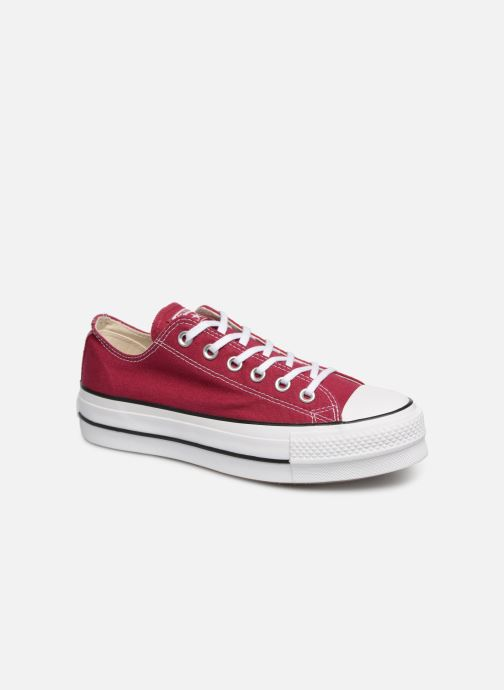 Trainers Converse Chuck Taylor Lift Ox Burgundy detailed view/ Pair view