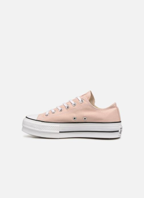 Trainers Converse Chuck Taylor Lift Ox Beige front view