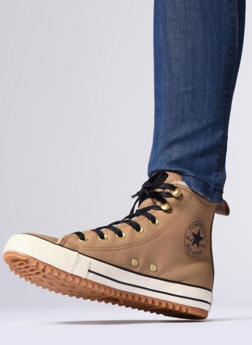 Baskets Converse Chuck Taylor Hiker Boot Hi Noir vue bas / vue portée sac