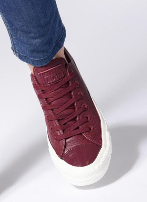 Trainers Converse Chuck Taylor Ox  W Burgundy view from underneath / model view