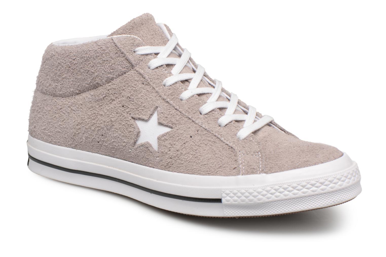 Baskets Converse One Star Mid Marron vue détail/paire