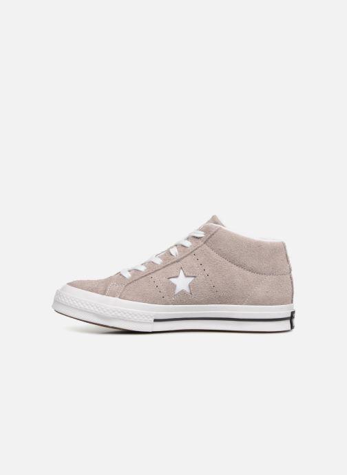 Sneaker Converse One Star Mid W grau ansicht von vorne