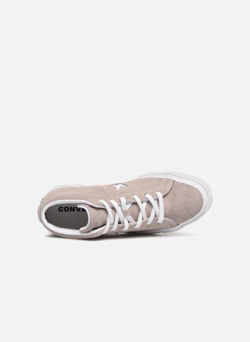 Sneaker Converse One Star Mid W grau ansicht von links