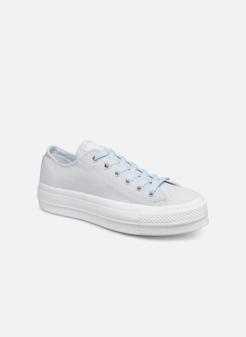 Trainers Converse Chuck Taylor Clean Lift Ox Blue detailed view/ Pair view