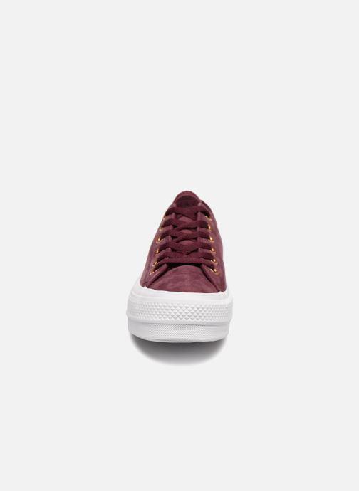 Sneaker Converse Chuck Taylor Clean Lift Ox weinrot schuhe getragen