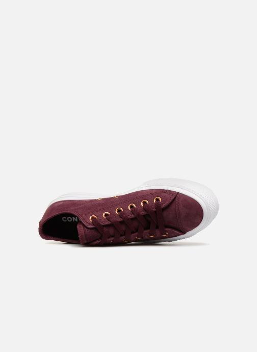 Sneaker Converse Chuck Taylor Clean Lift Ox weinrot ansicht von links