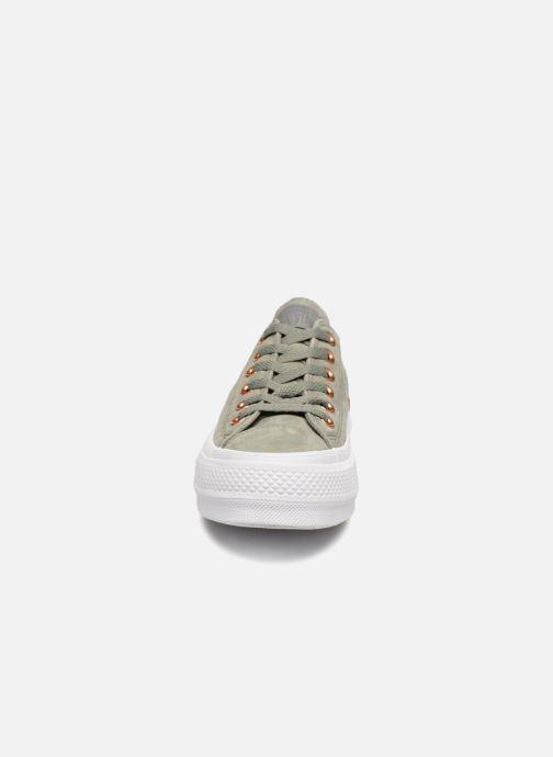 Baskets Converse Chuck Taylor Clean Lift Ox Vert vue portées chaussures
