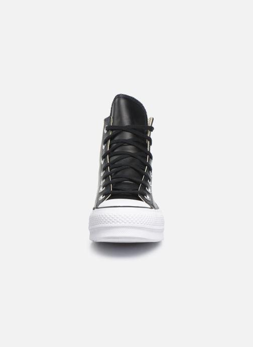 Sneaker Converse Chuck Taylor Lift Clean Hi schwarz schuhe getragen