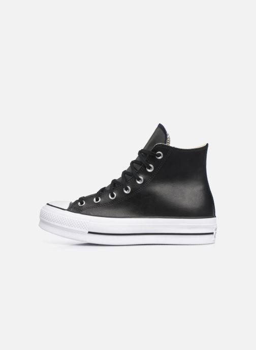 Sneaker Converse Chuck Taylor Lift Clean Hi schwarz ansicht von vorne