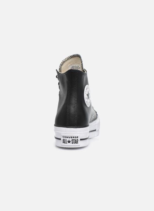 Sneaker Converse Chuck Taylor Lift Clean Hi schwarz ansicht von rechts