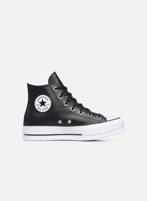 Sneaker Converse Chuck Taylor Lift Clean Hi schwarz ansicht von hinten