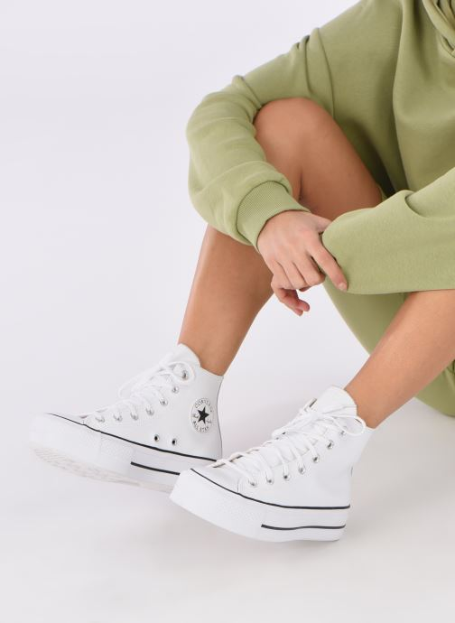Sneakers Converse Chuck Taylor Lift Clean Hi Wit onder