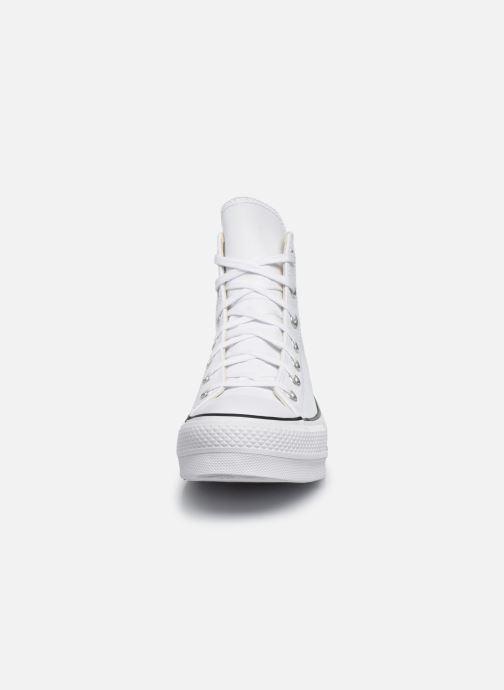 Baskets Converse Chuck Taylor Lift Clean Hi Blanc vue portées chaussures