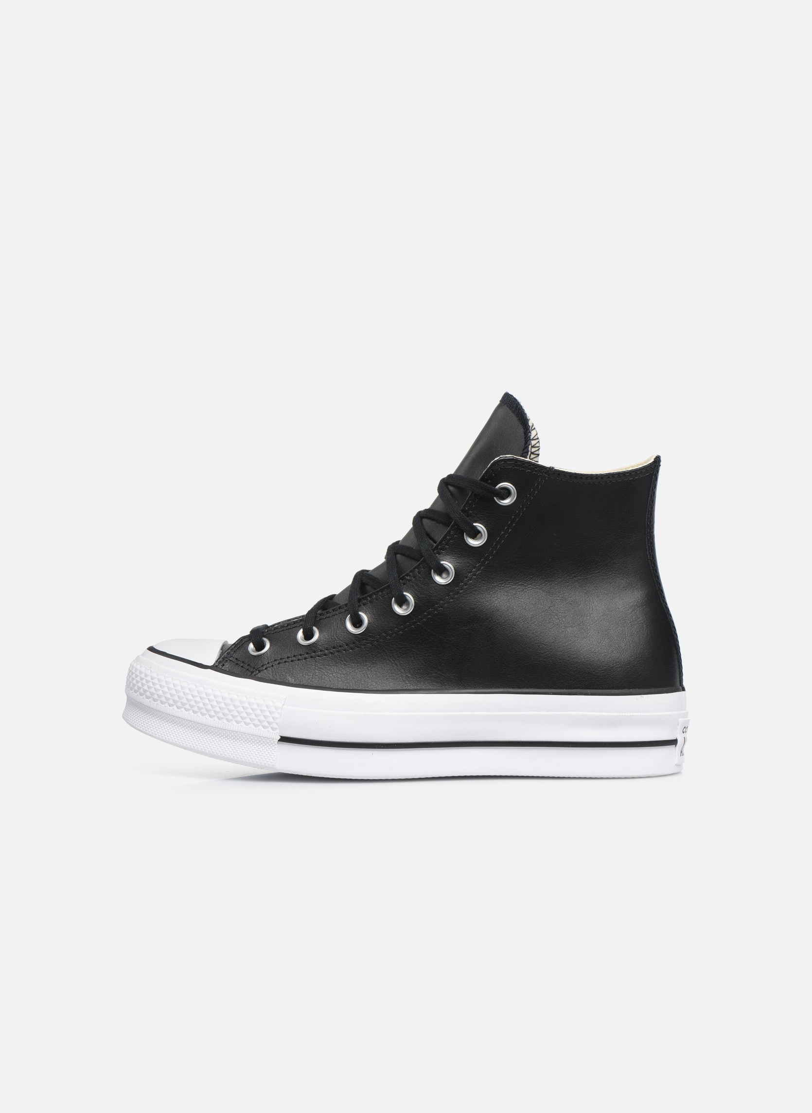 Baskets Converse Chuck Taylor Lift Clean Hi Noir vue face