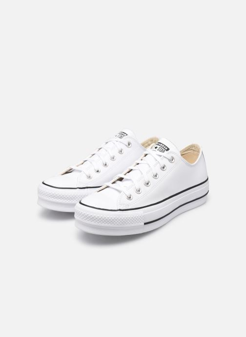 Sneakers Converse Chuck Taylor Lift Clean Ox Bianco immagine dal basso