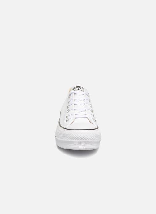 Baskets Converse Chuck Taylor Lift Clean Ox Blanc vue portées chaussures