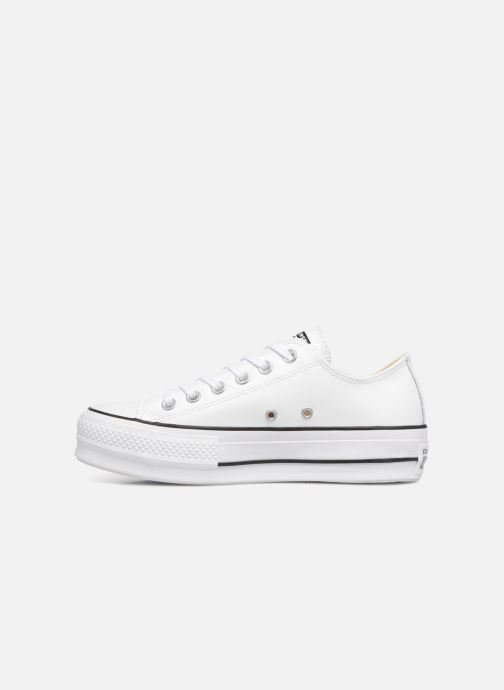 Sneakers Converse Chuck Taylor Lift Clean Ox Bianco immagine frontale