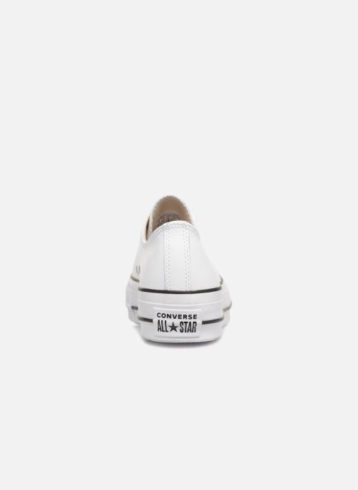 Sneakers Converse Chuck Taylor Lift Clean Ox Bianco immagine destra