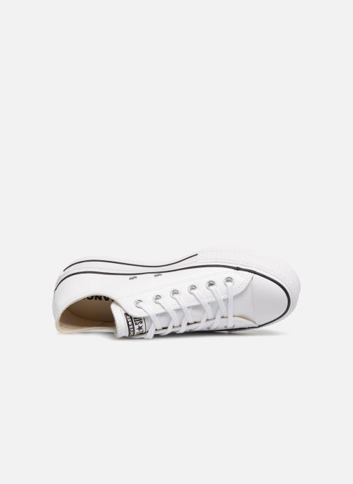 Sneakers Converse Chuck Taylor Lift Clean Ox Bianco immagine sinistra