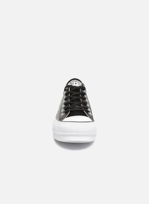 Baskets Converse Chuck Taylor Lift Clean Ox Noir vue portées chaussures