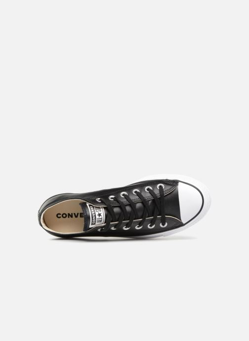 Sneakers Converse Chuck Taylor Lift Clean Ox Nero immagine sinistra